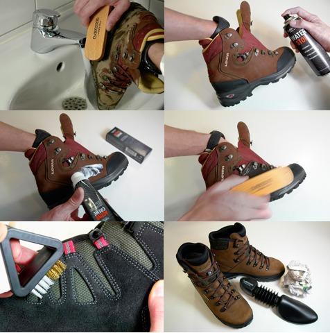 روش نگه داری از کفش کوهنوردی